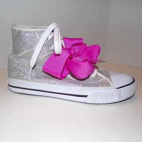 Jojo Siwa Silver Glitter Hitop Sneakers